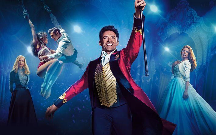 Download wallpapers The Greatest Showman, 4k, 2017 movie, drama, Hugh Jackman, Michelle Williams, Rebecca Ferguson