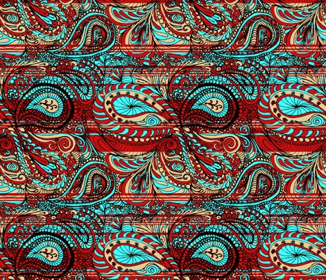 paisley_bright fabric by wiccked on Spoonflower - custom fabric