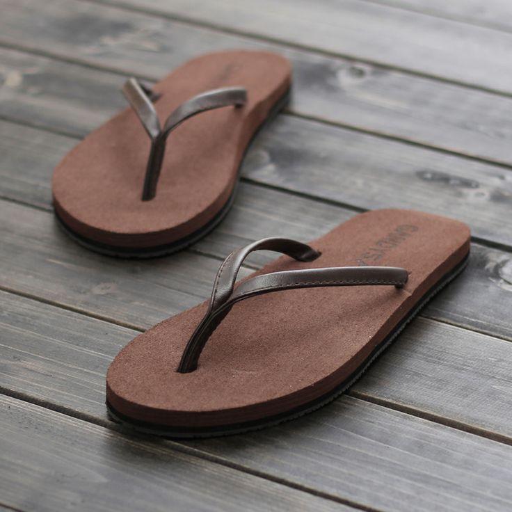 Мужская летняя мода флоп сандалии и тапочки сандалии флип корейской версии случайные женщины пара подошве кожа скольжения прицепом - eBoxTao, English TaoBao Agent, Purchase Agent. покупка агент