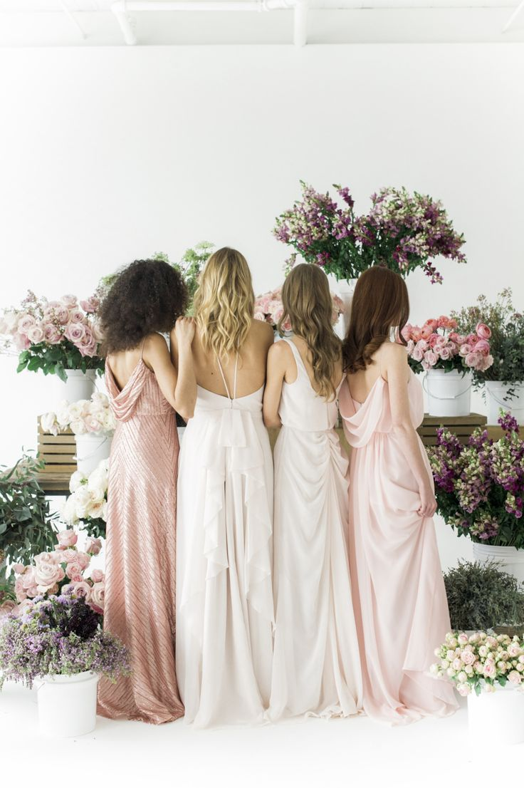 Photography : Judy Pak Photography | Flowers : Fifty Flowers | Bridesmaids Dresses : SMP x Weddington Way Read More on SMP: http://www.stylemepretty.com/2017/02/10/style-me-pretty-weddington-way-bridesmaids-dresses/