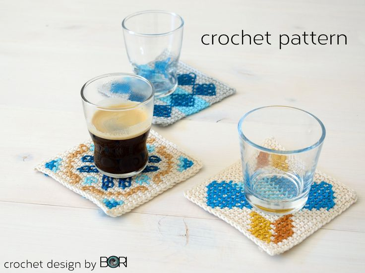 Portuguese Coffee Placemat - table decor - handmade crochet pattern by BORIsBAG on Etsy