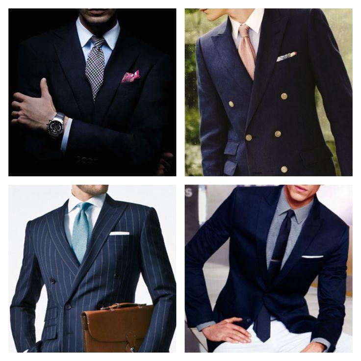 Men's business attire.