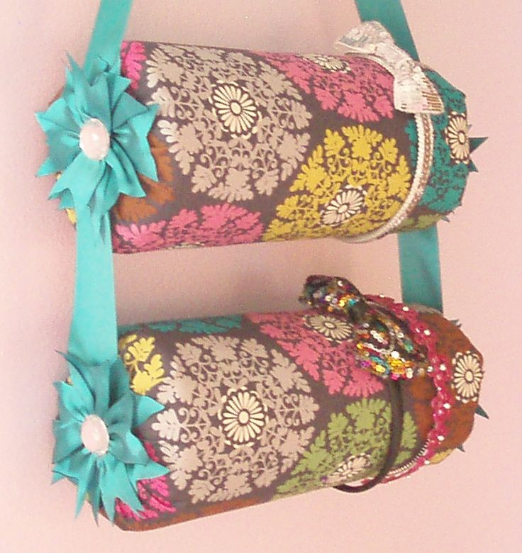 Double Hanging Fabric Headband Organizer Headband Holder. $28.99, via Etsy.