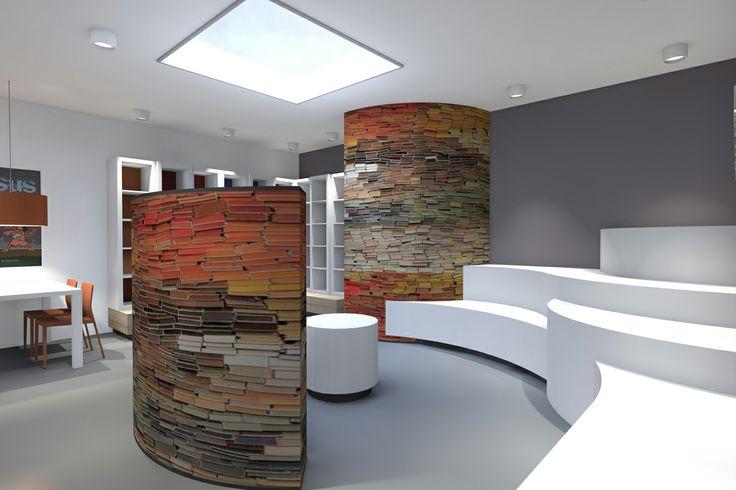 3d rendering, interior, school library by Vormkracht 9