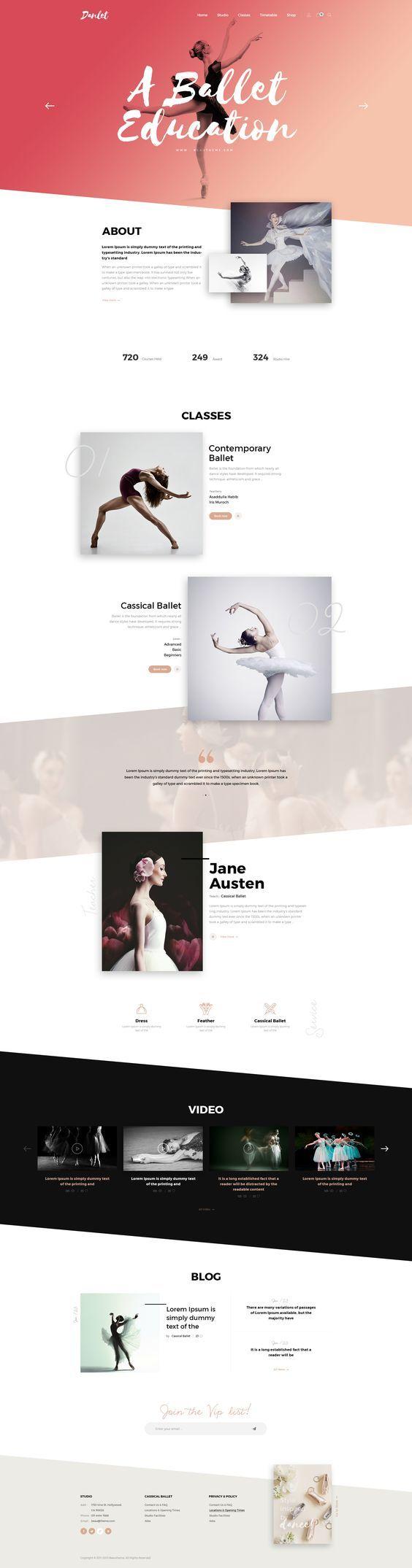 Danlet Academy WordPress Theme - Art Education. Download here: https://themeforest.net/item/danlet-academy-wordpress-theme-ballet-hiphop-dance-music-art-education/19170081?ref=7h10#dance #dancing #theme #template #ballet
