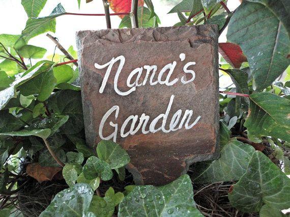 Nana's Garden marker plant sign outdoor art decor by kpdreams