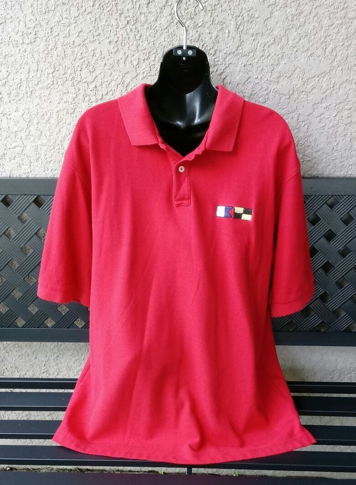 5134b132 Men's Vintage FILA Sailing Red Polo Shirt ~ Size XXL in 2018 | Men's ...