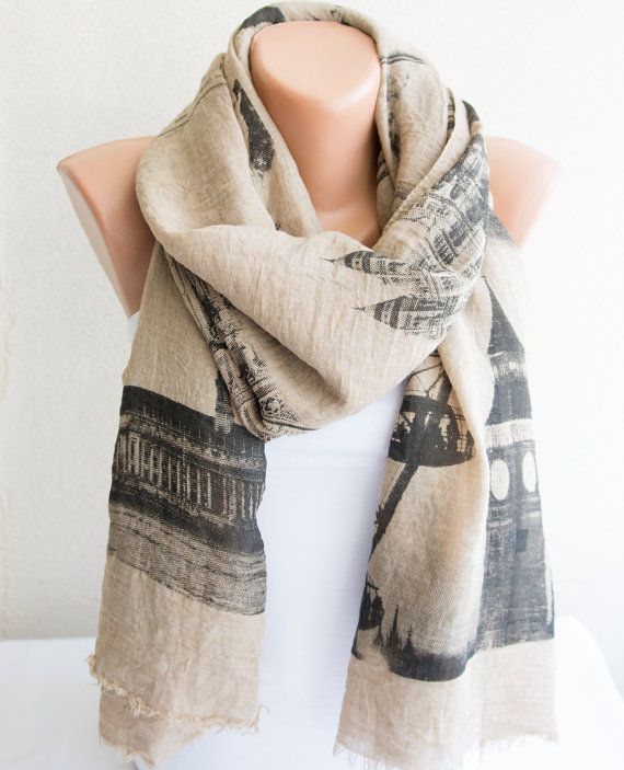 Soft Cotton Scarf Woman Accessories Woman by ModernScarfPoint