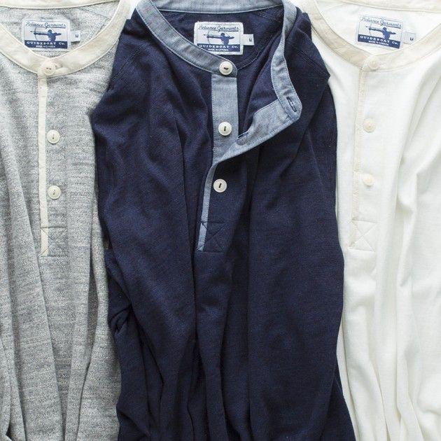 Men's Reliance Garments 3-Button Henley - Men's Knits & Tees