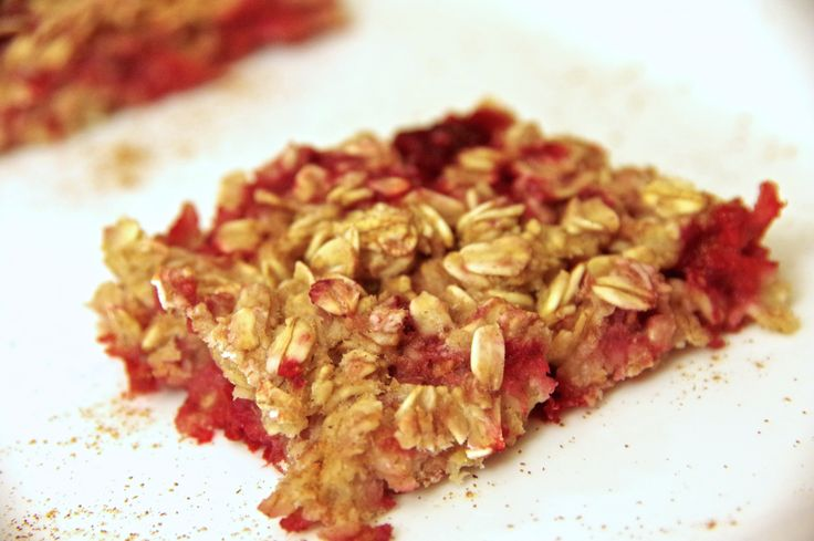 Raspberry Oat Granola Bars