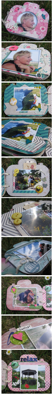 My first mini scrapbook album to my lovely mum