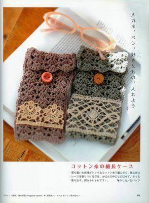 Tecendo Artes em Crochet: Porta-Óculos e Bolsa com Squares