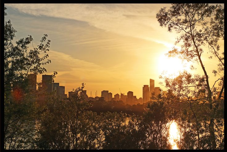 """Toronto Skyline, as viewed from the """"Leslie Spit."""""""