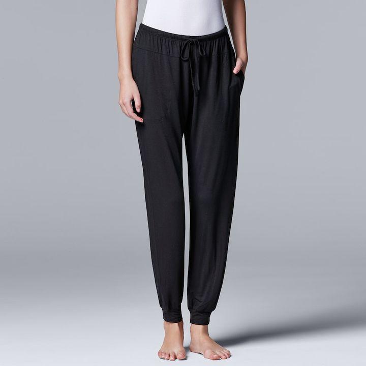 Simply Vera Vera Wang Women's Simply Vera Vera Wang Basic Luxuries Jogger Pants