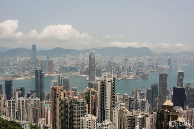 View from Victoria Peak  #HongKong #skyscrapers #China #VictoriaPeak