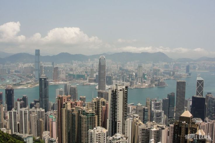 View from Victoria Peak  #HongKong #skyscrapers #China #VictoriaPeak