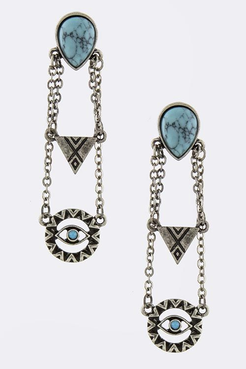 Not sure why, but I like how mysterious these are.  Evil Eye earrings by TrendyJewelz on Etsy