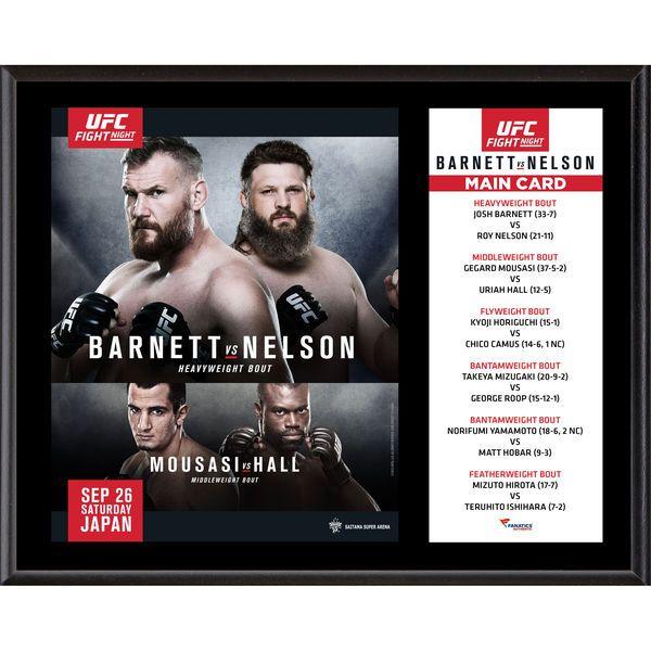 "Fanatics Authentic UFC Fight Night Josh Barnett vs. Roy Nelson 12"" x 15"" Sublimated Plaque - $39.99"