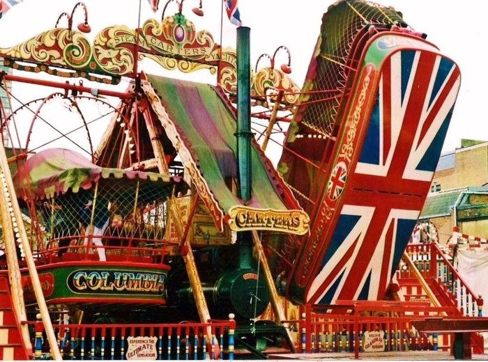 All the fun of the English fairground.. memories from childhood .. used to ride these things ... fun ......