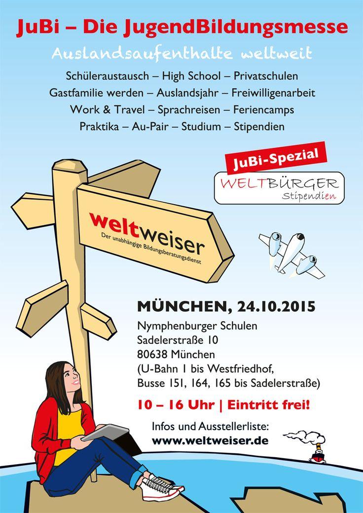 JugendBildungsmesse in #München: 24. Oktober 2015, Nymphenburger Schulen