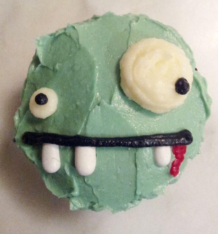 zombie cupcake!                                                                                                                                                                                 More