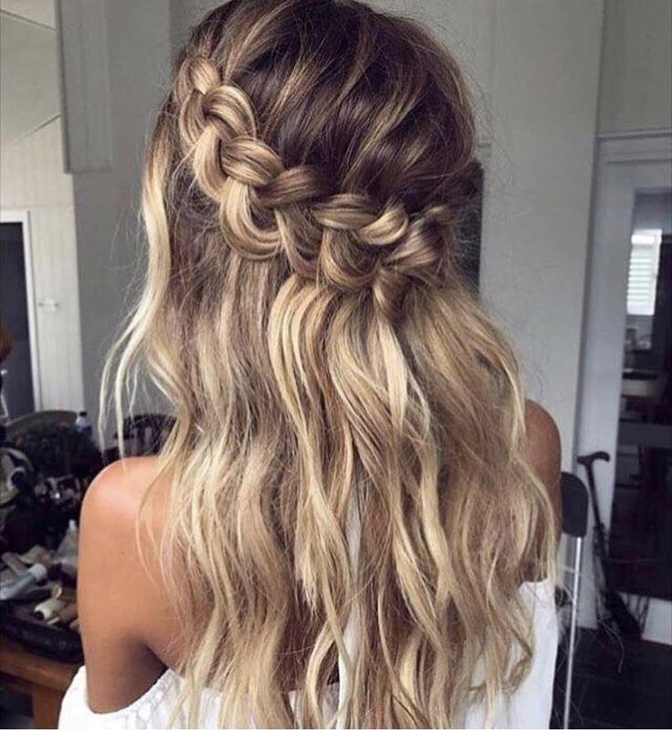 Wedding Hair A Half Up Half Down Crown Braid Braids For Long Hair Long Hair Styles Hair Styles