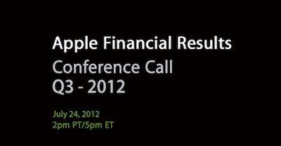 Apple: Les résultats du troisième trimestre 2012 annoncer le 24 juillet
