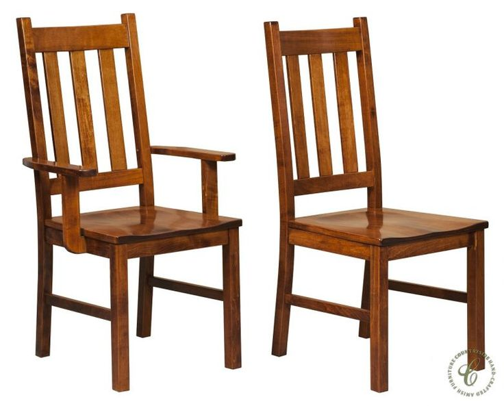 simple mission style with a rustic appeal is offered with the attractive denver mission dining chair
