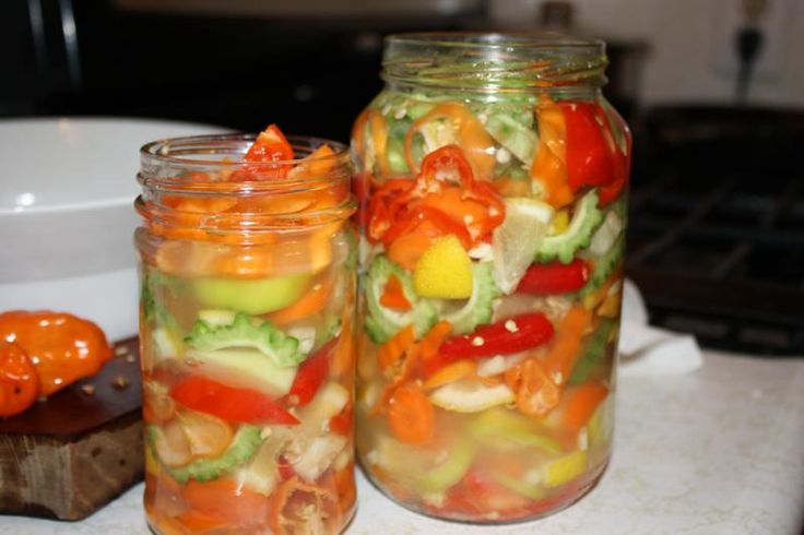 Extreme Caribbean Pickled Peppers.