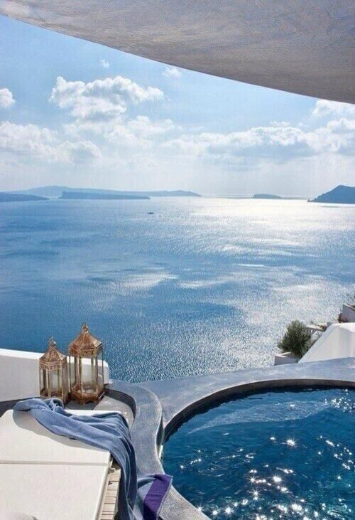 The perfect hot tub, Greece. ...