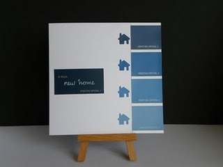 New home card from paint strips. What a great material :)