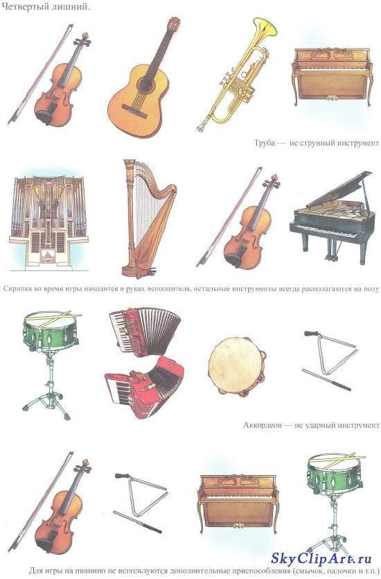 Окружающий мир. Музыкальные инструменты. Дидактический материал ...