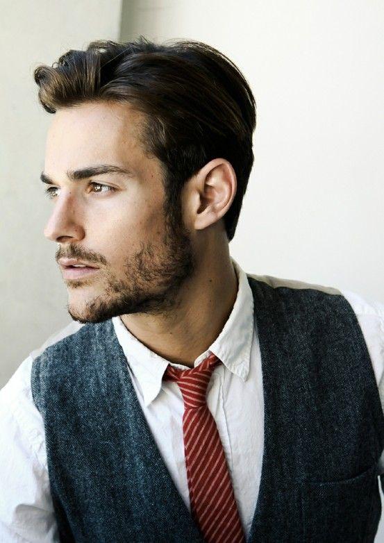 Love that Red Chalk-Striped Tie!