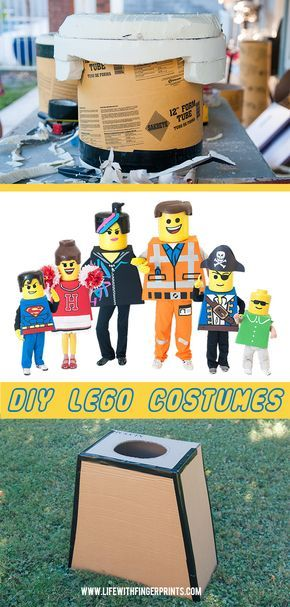 DIY Halloween Lego Costumes; Lego bodies and Heads