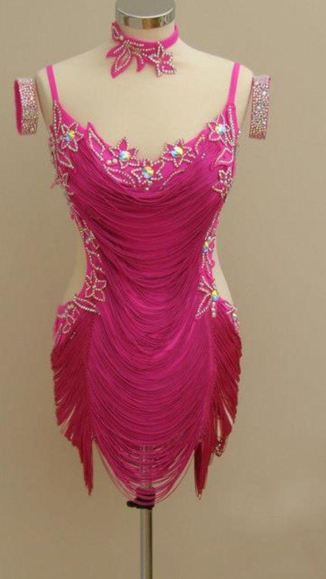 Pink horizontal fringe