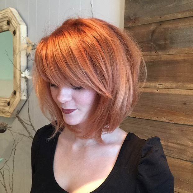 People believe that, if you have a round face, you can't get away with a short bob. This look is definitely one to recreate if you want to avoid the fat-face though, and as long as you go for that added volume on the top, it won't make your face look any rounder than it needs to! Smart, right?