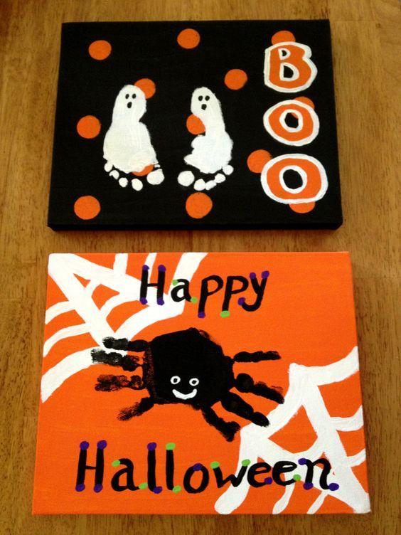DIY Halloween Crafts for Kids to Make – Handprint & Footprint Art