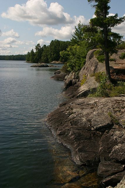 Muskoka, rocky shores - I miss my grandfathers cottage in Muskoka, such a BEAUTIFUL place!!!