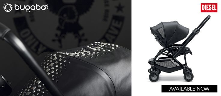 The Bugaboo by Diesel Rock collection is edgy yet stylish, perfect for urban parents who want to stand out in the crowd. This special edition comes as a complete Bugaboo Bee3 pushchair including tailored fabric set in a wax-coated fabric, various leather details and rock-inspired studs. Complimenting carrycot and footmuff available as accessories.  Available now from My Crib Rocks!