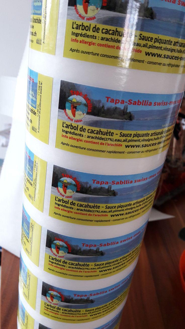 Nouvelle étiquette #TapaSabllia #hot #sauce #cacahuète #Yvonand www.sauces-swiss-mex.ch