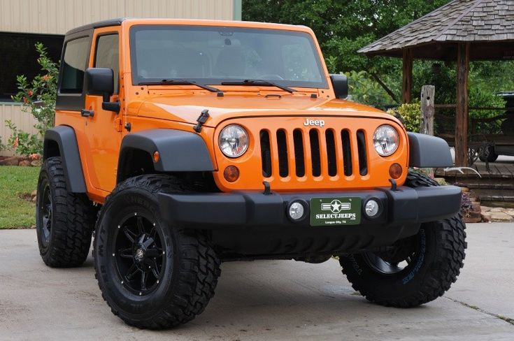 "2012 Jeep Wrangler ""Crush"" Orange JK Sport - http://www.selectjeeps.com/inventory/view/9151314/2012-Jeep-Wrangler-4WD-2dr-Sport-League-City-TX"