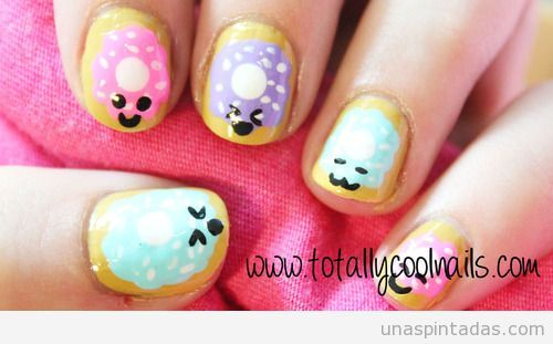 uñas decoradas faciles kawaii - Buscar con Google