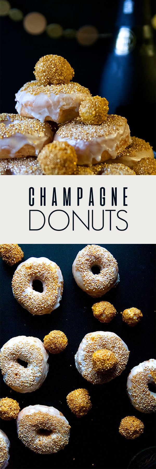 Kosher Recipes | Chanukah Recipes | New Year's Eve Recipes | This year the last night of Chanukah lands on New Year's Eve, so what better way to celebrate than with these delicious champagne donuts for sufganiyot?!