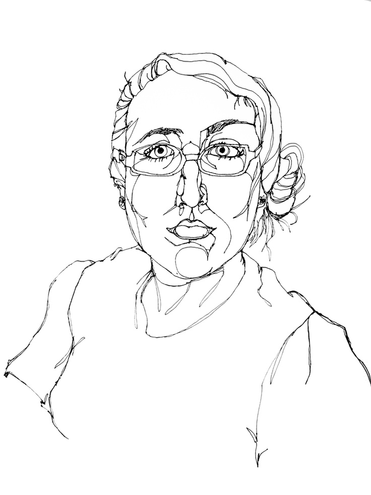 Line Drawing Portrait : Best taking a line for walk images on pinterest