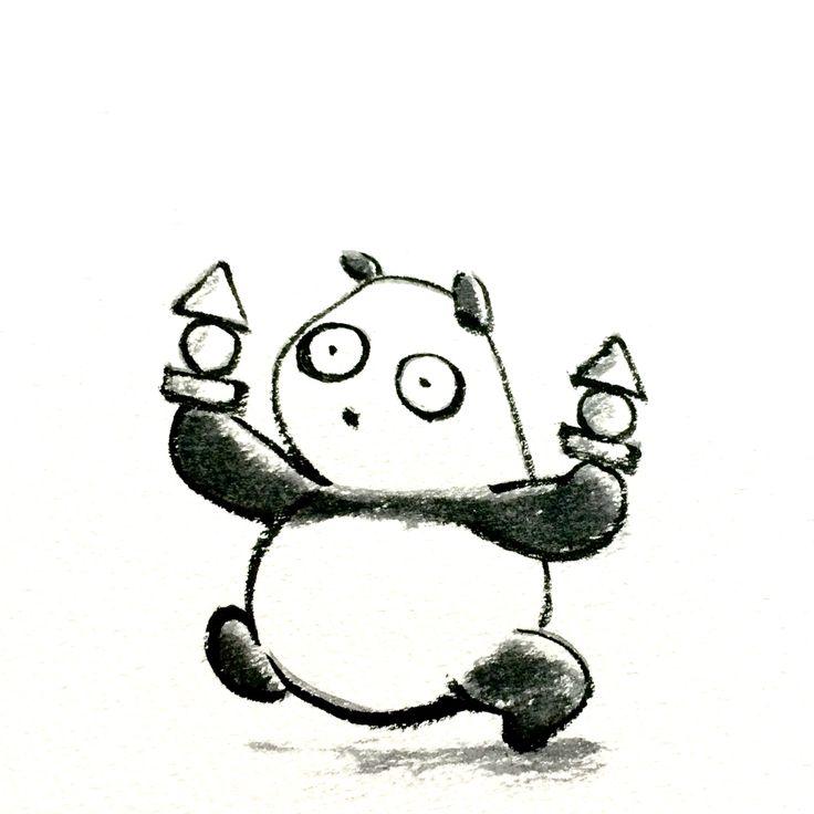 【一日一大熊猫】 2015.5.29 こんにゃくの日。 おそ松くんのちび太が持っているおでんは 上からこんにゃく、がんもどき、鳴戸巻き という設定らしいね。 #こんにゃく #pandaJP http://osaru-panda.jimdo.com