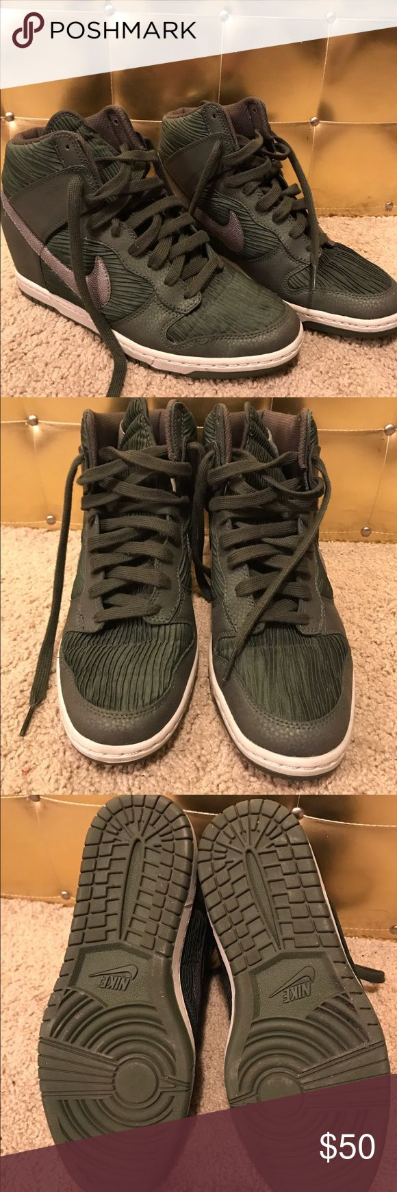 Forest Green Nike Sky Hi's.  Women's Size 10.5. Forest Green Nike Sky Hi's.  Women's Size 10.5. Excellent used condition. Nike Shoes Athletic Shoes