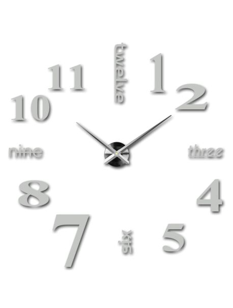 Ceasuri decorative de perete - Marile șapte Referinta  12S015-RAL7035-S-COLOR** Alege o culoare de unul singur! Timpul a venit mult mai confortabil REALIT ceas nou. 3D Ceas de perete mare este un decor frumos al interiorului. Nu vei fi niciodată târziu.