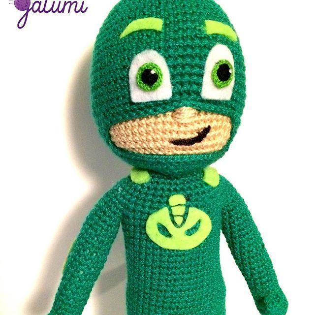 Gecko de Héroes en Pijamas!!! #amigurumi #amigurumis #amigurumitoy #amigurumilove #crochet #amigurumichile #Gecko #pjmasks #heroesenpijamas #hechoenchile #handmadechile