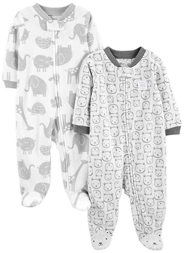1c3019aa0 Simple Joys by Carter s Baby 2-Pack Fleece Footed Sleep and Play ...