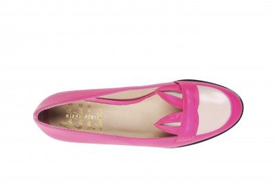 Minna Parikka AW13 collection: Caracal Pink White shoe  #minnaparikka #fashionflashfinland #fashion #fashiondesigner #designer #aw13 #collection #Finland #Helsinki #shoedesigner